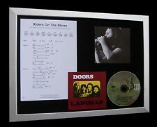 DOORS Riders On The Storm LTD CD MUSIC FRAMED DISPLAY+EXPRESS GLOBAL SHIPPING