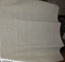 "White 36"" X 48"" 100% Cotton Tufted Bath Rug Mat Made in Italy 90 x 120 Washable"