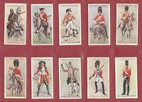 JOHN PLAYER & SONS  -  SCARCE  SET  OF  50  REGIMENTAL  UNIFORMS  CARDS  -  1912