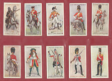 JOHN PLAYER & SONS  -  SCARCE  SET  OF  50  REGIMENTAL  UNIFORMS  CARDS  -  1912