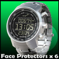 Suunto Elementum Terra Watch Protectors  x 6  protect your watch glass,  black