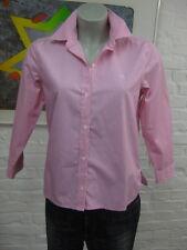 RALPH LAUREN schöne Sommer Bluse Hemd Gr.S-M, Pink mit Weiß gestreift, 3/4 Arm