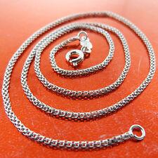 Gold Antique Fine Link Design Fs3A651 Necklace Pendant Chain Real 18K White G/F
