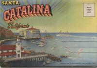 Santa Catalina, California Vintage Souvenir Postcard Folder