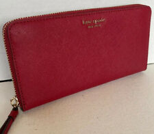 New Kate Spade Cameron Large Continental wallet Leather Rosso