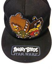 ANGRY BIRDS STARS WARS BLACK ADJUSTABLE SNAPBACK 2012 LUCAS FILM VGUC HAT CAP
