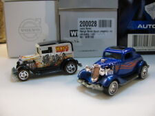 Hot WHeeLs Hot Rod 1934 Ford Coupe + Kiss A-Ok rubber wheels hotwheels (2pcs)