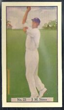 ALLEN (AUSTRALIA)-CRICKET (COLOURED) 1938-#23- MIDDLESEX - SIMS