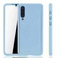 Xiaomi Mi 9 Se Custodia Cover per Cellulare Protettiva Bumper Pellicola Blau
