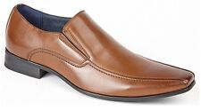 Mens Smart Wedding Shoes Faux Leather Formal Slip On Office Work Dress Boys Size