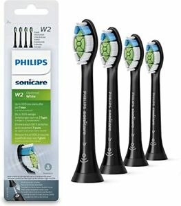 4X Phillip W2 Sonicare Replacement Optimal White Brush Head- Brand New-CLEARANCE