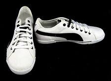 Puma Schuhe Benecio Athletic Canvas Weiß/Schwarz Sneaker Größe 9.5