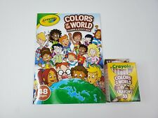 Crayola Colors of the World Coloring Activity Book W/ Multicultural Crayon Set