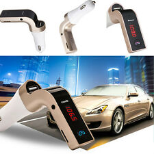 Car Bluetooth Handsfree FM Transmitter Radio MP3 Player USB Charger AUX Red LED