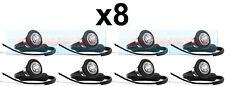 8X 12V / 24V ANTERIORE BIANCO / chiaro SMALL ROUND LED pulsante Marcatore Lampada / Luci Universale