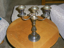 Vintage Silver Plated Two Arm Candlestick Holder - Damaged