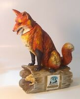 Ski Country 1973 Red Fox on Log w/ Rabbit limited edition large decanter empty.