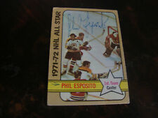 1972-73 Topps Hockey---#124 Phil Esposito---Autographed