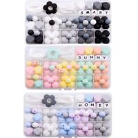 Silicone Teether Beads DIY Baby Teething Pacifier Necklace Jewelry Toy Making