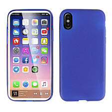 For Apple iPhone X XS Frosted TPU CANDY Gel Flexi Skin Case Cover + Screen Guard