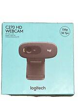 NEW Logitech C270 HD Webcam, 720p, Video Calls, Mac and Windows SHIPS FREE NOW!