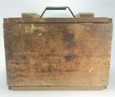 Vintage Smokeless Cannon Powder Wooden Crate Ammo Box Military ?