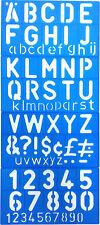 """Letras Y Números Alfabeto & Números A-Z & 0 - 9 Stencil Set 2 Pulgadas & 3/4"""""""