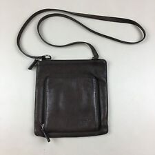 Fossil Small Brown Leather Crossbody Shoulder Bag Purse