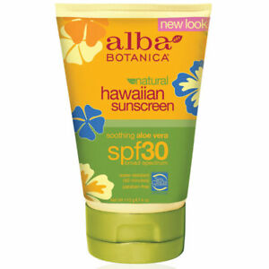 Alba Botanica Hawaiian Sunscreen Aloe Vera SPF 30 113g Sun Cream reef safe vegan