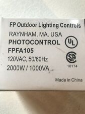 New Fp Outdoor Lighting Controls Fpfa105 Button Photo cell 120Vac 50/60Hz, 2000W