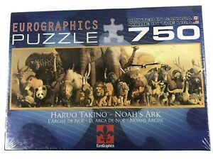 "NEW Eurographics Noah's Ark Haruo Takino 750 Piece Jigsaw Puzzle 12"" x 36"""
