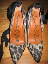 Lanvin for H&M Leopard Print Crystal Rhinestone Pumps  Size 8 US, 39 EUR