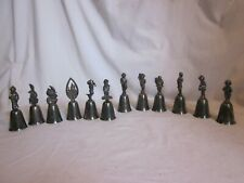 *12 Reed & Barton bells lot holiday silver plated bell lot *6 missing clappers