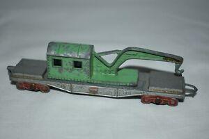 Vintage TootsieToys Metal #1938 Train Crane Car Railroad Made USA