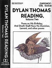 DYLAN THOMAS READING VOLUME 2 CASSETTE POEMS Caedmon NY
