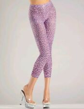 New Be Wicked BW713 Footless Pink Leopard Print Leggings