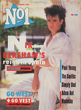 Nik Kershaw on Magazine Cover 1985   Madonna   Adam Ant   Go West   The Smiths