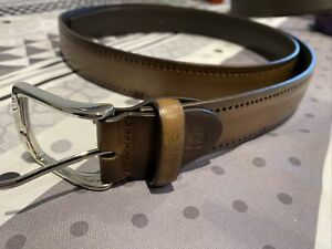 Canali Brown Leather Belt 120/135