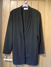 Wallis Black Long Jacket Size 12 (Ref P) Ex Condition