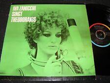 IVA ZANICCHI singt Theodorakis / German LP 1976 RIFI METRONOME MLP 15574