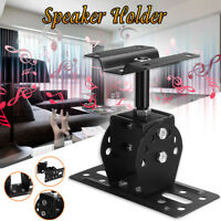 Wall Mount Speaker Holder Stand Bracket Aluminum Alloy Ceiling Support Black