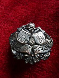 altes originales Abzeichen Bayerischer Feuerwehrtag Bamberg 1910