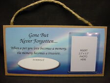 In Memory of PET RAINBOW MEMORIAL photo picture frame sign PLAQUE dog horse cat