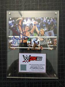 2017 WWE 2K18 John Cena Royal Rumble Ring Canvas Relic Auto Autograph