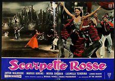 FOTOBUSTA 2, SCARPETTE ROSSE The Red Shoes PRESSBURGER, RARA 2a ED,'60!! AFFICHE