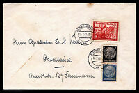Germany - Mixed Franking WWII Cover Sc #415, 417 & B152 July 15,1941  Dusseldorf