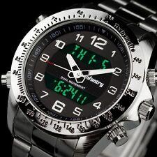 INFANTRY Mens Digital Quartz Wrist Watch Date Chrono Army Sports Stainless Steel