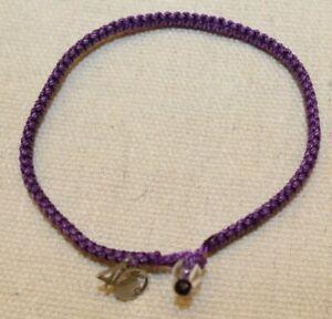 4Ocean Hawaiian Monk Seal Purple Braided Bracelet
