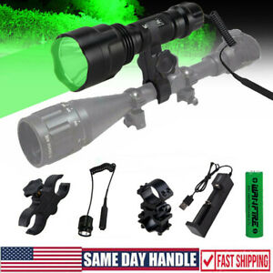 500 Yards Red Green LED Coyote Hunting Flashlight Weapons Scope Mount Gun Light
