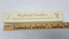 Highland VTG Vintage Candles Antique White Hand Poured Original Early Moulds